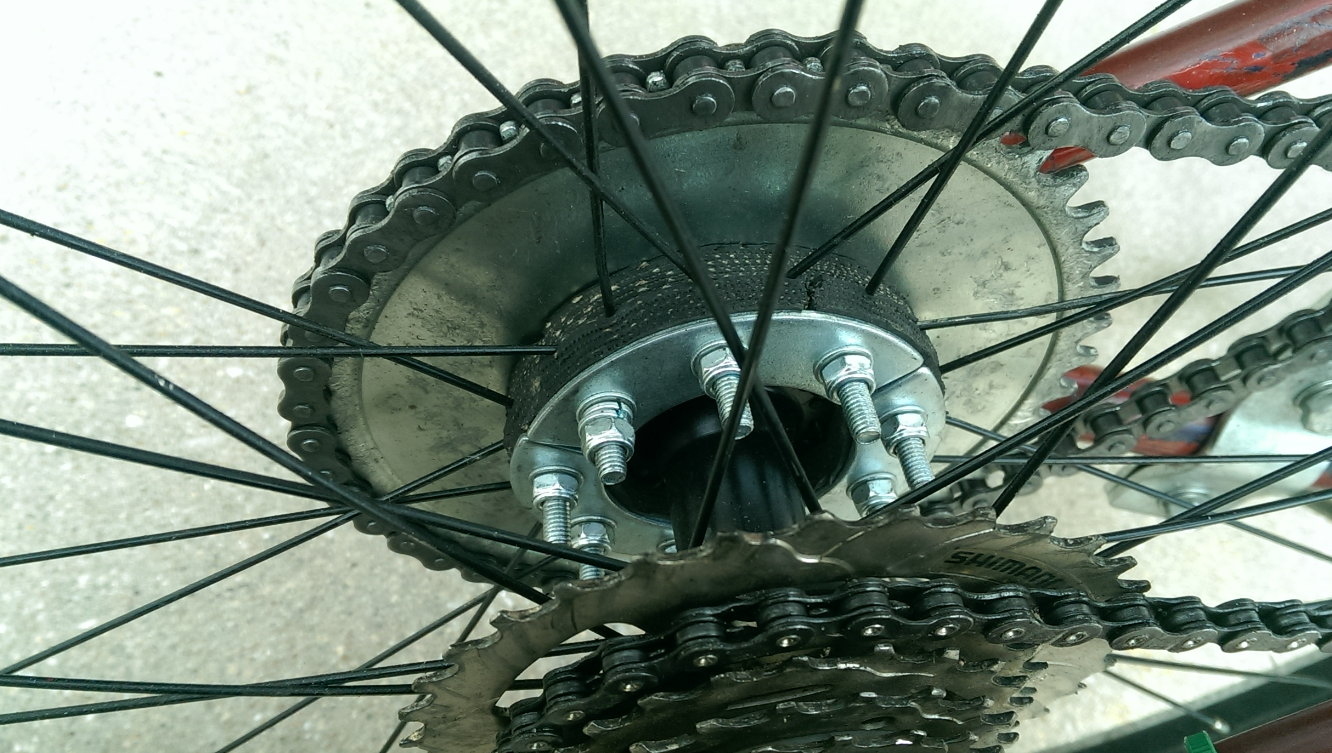 Sprocket Mounting Motorized