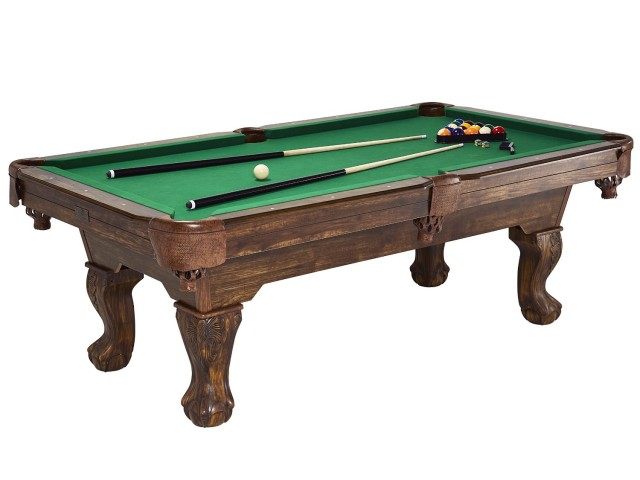 Traditional Ball and Claw Leg Billiard Table